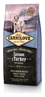 CARNILOVE SALMON / TURKEY PUPPIES 12 KG