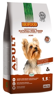 BIOFOOD ADULT SMALL BREED 1,5 KG