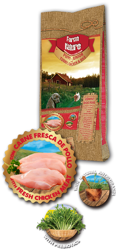 FARM NATURE TURKEY / CHICKEN WITH RICE JUNIOR 18 KG