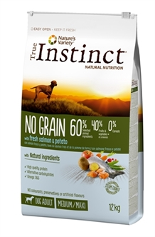 TRUE INSTINCT NO GRAIN MEDIUM ADULT SALMON 12 KG