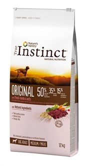 TRUE INSTINCT ORIGINAL MEDIUM ADULT LAMB 12 KG