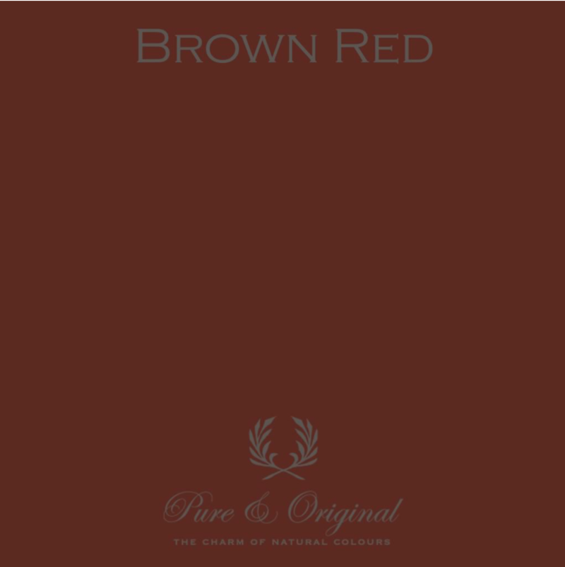 Brown Red - Afwasbare verf - Licetto