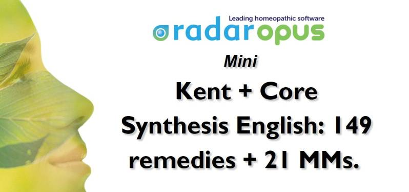Mini: Kent + Core Synthesis (149 remedies) + 21 MMs (English)