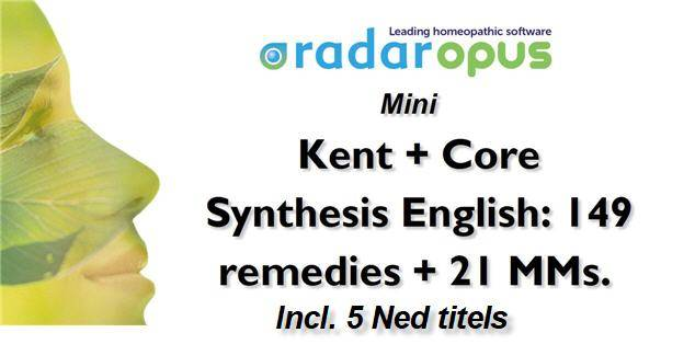 Mini: Kent + Core Synthesis: 149 remedies + 21 MMs + 5 Ned titels