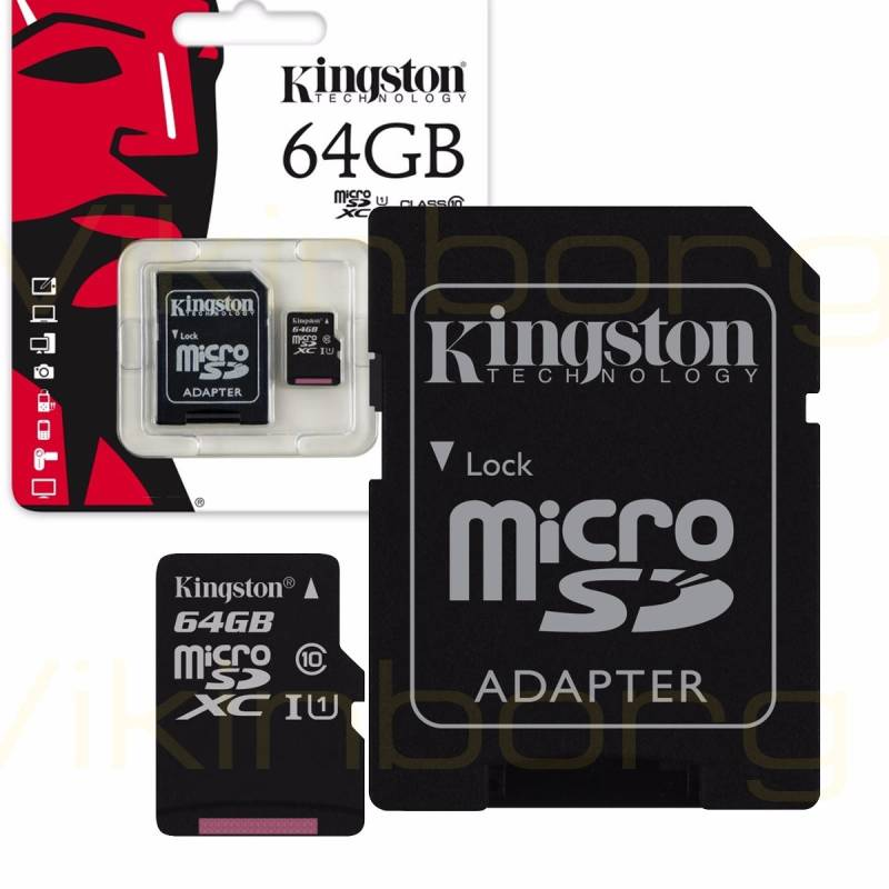 Kingston  64 GB Micro SD Kaart Canvas Select class 10