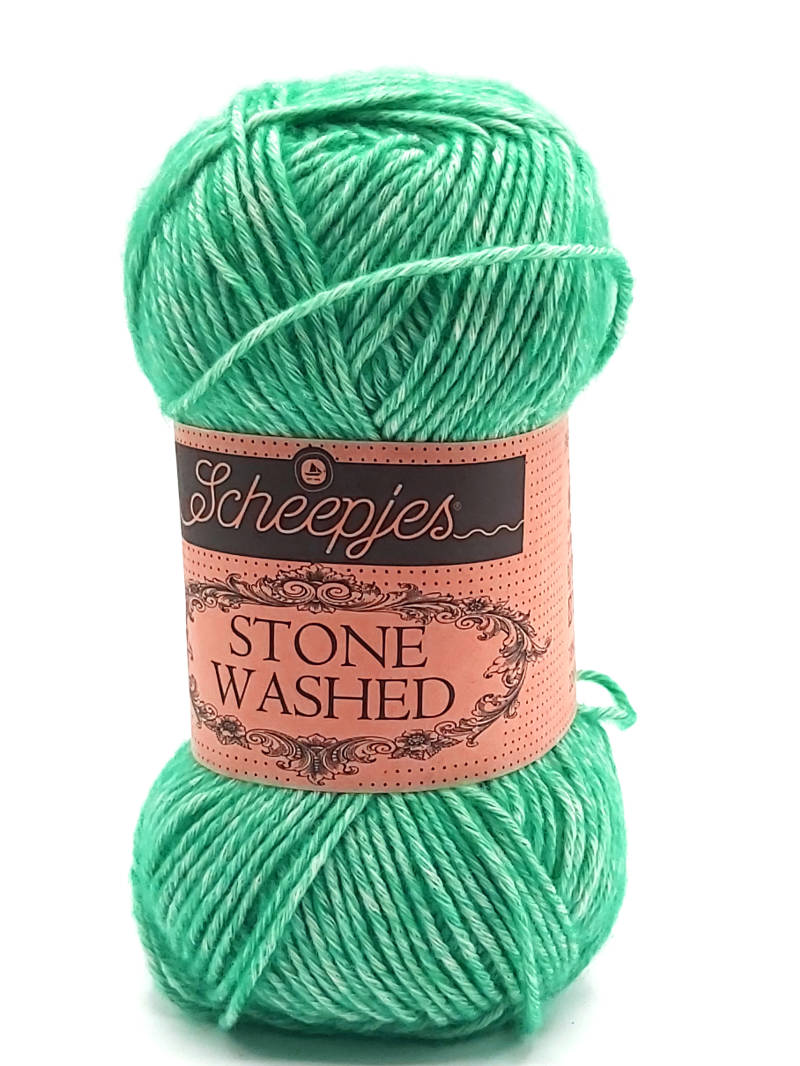 Stone Washed 815 Green agate
