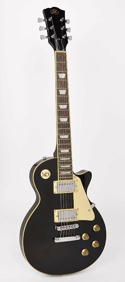 SX Guitars EE3 BK LP Std Model Black