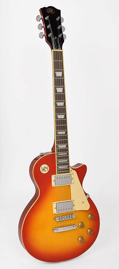 SX Guitars EF3CS LP Std model Cherry Sunburst