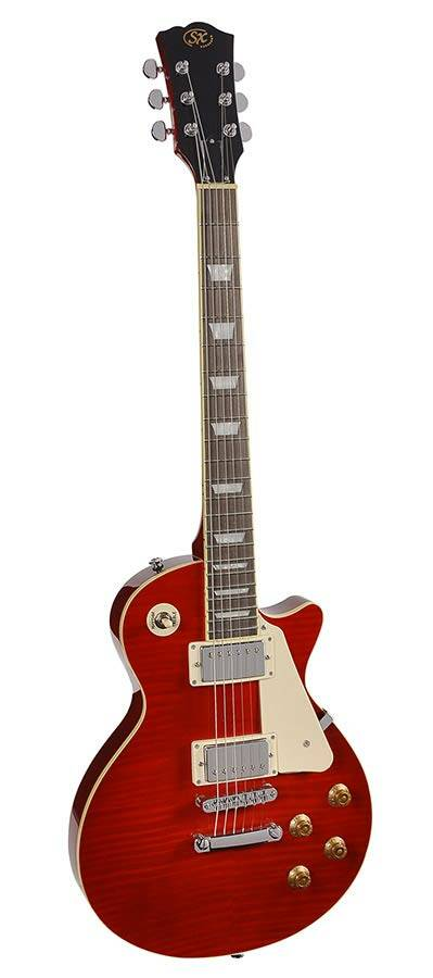 SX Guitars EF3DTWR LP Std model Trans Wine Red