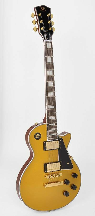SX Guitars EH3GD LP Custom model Gold Top