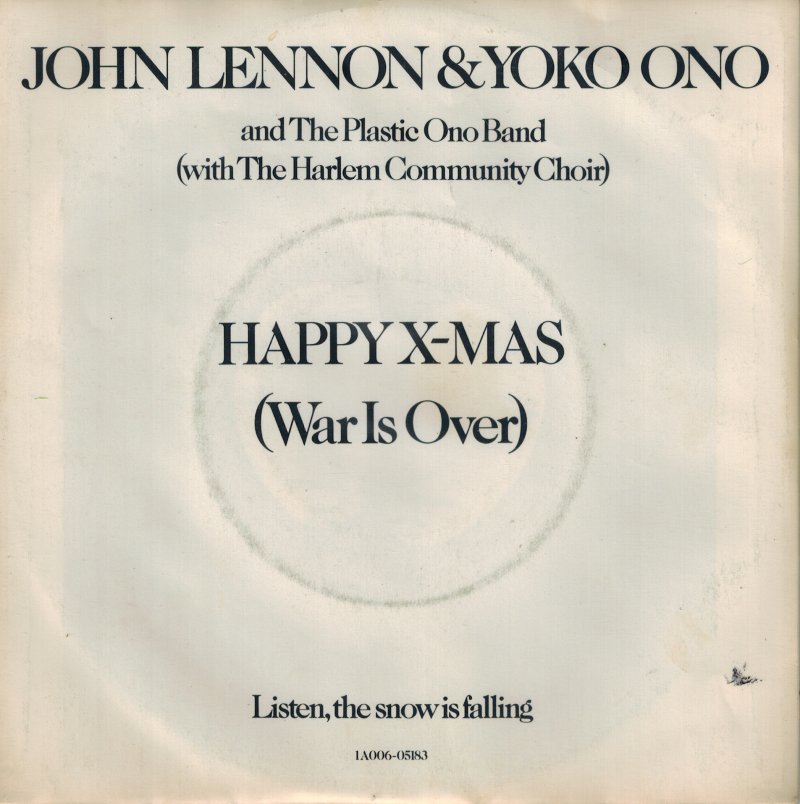 John Lennon & Yoko Ono | Single | Happy X-Mas, Listen the snow is falling
