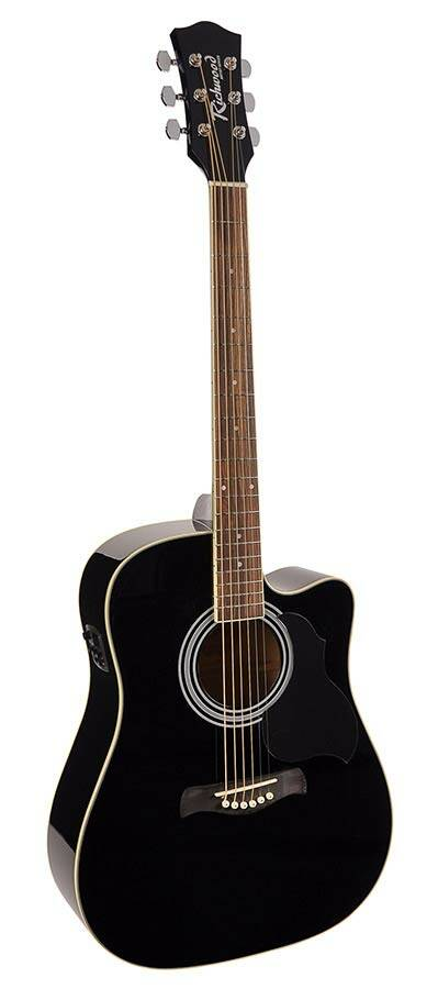 Richwood Artist Series RD12CEBK Black Westerngitaar EQ