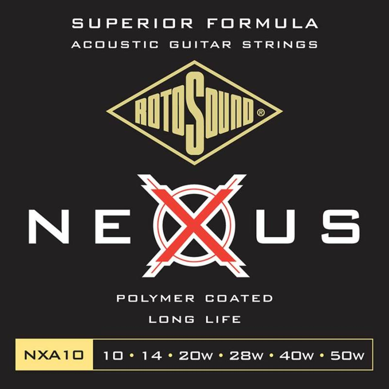 Rotosound NXA10 Snarenset Coated Phosphor Bronze 010-050