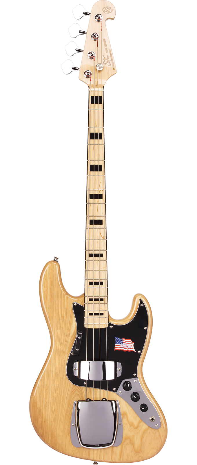 SX Guitars SJB75C NA J-Bass Naturel Ash Series