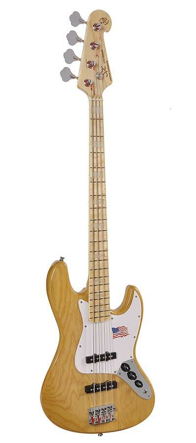 SX Guitars SJB75 NA J-Bass Naturel Ash Series