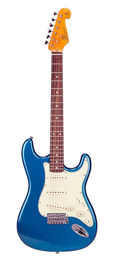 SX Guitars SST62LPB Stratocaster Model Lake Placid Blue