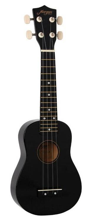 Morgan UKS100 Metalic Black Sopraan Ukulele