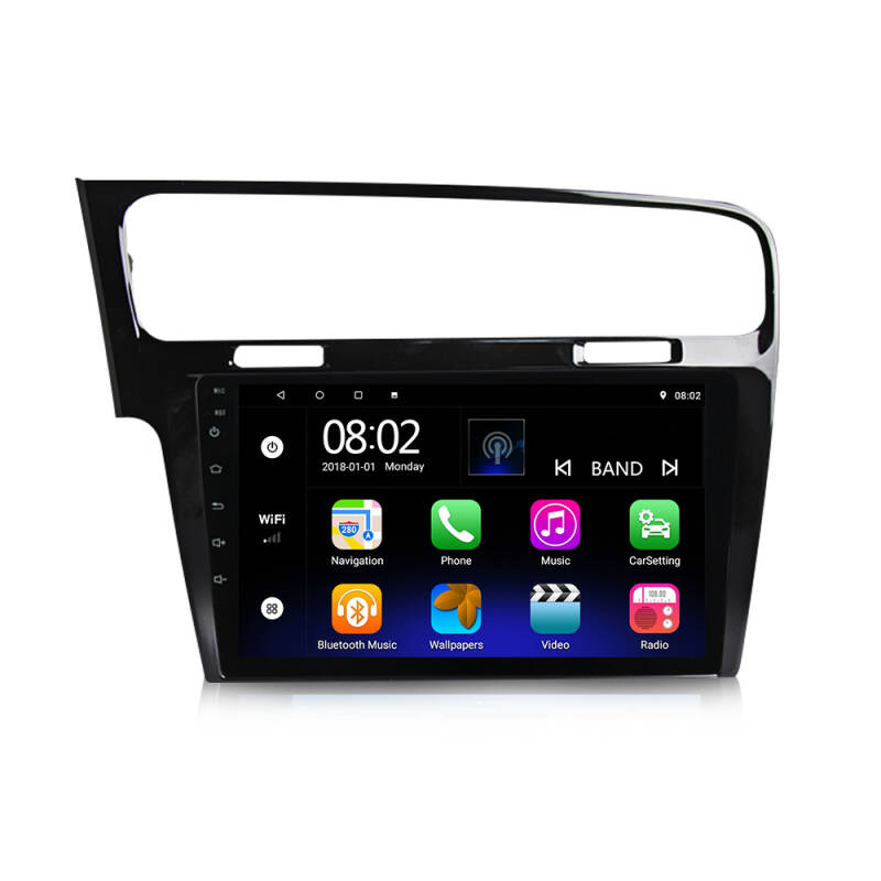Android Radio Navigatie 10.0 Volkswagen Golf 7 VII 2014-2018 Autoradio Multimedia Video Player Navigatie GPS VIDEO, WIFI BT
