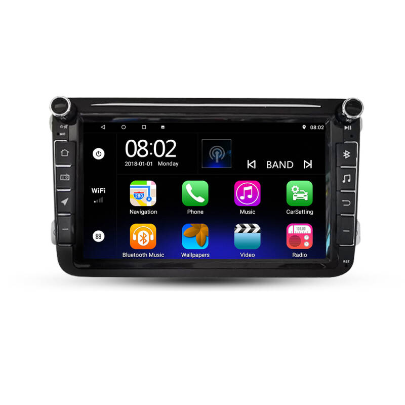 Android1 0.0 Radio Navigatie  8 inc Scherm Car Video voor VW CC Universal Golf / Polo / Tiguan / Passat / B7 / B6 / SEAT / Leon WIFI GPS BT WIFI Radio SWC
