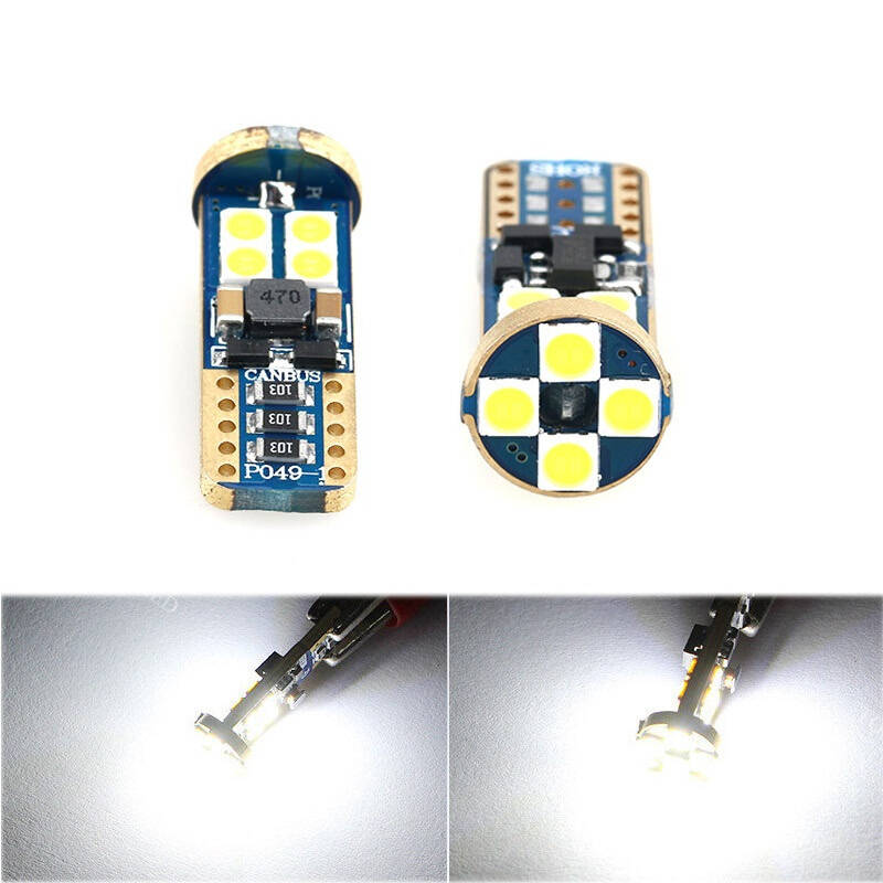 T10 W5W Gold 12 SMD led CANBUS