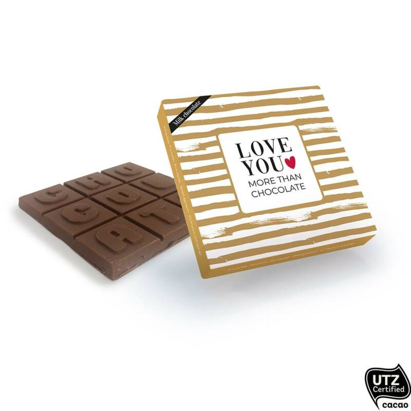 Chocolade - Love you more than chocolate - Melk | Paper Art