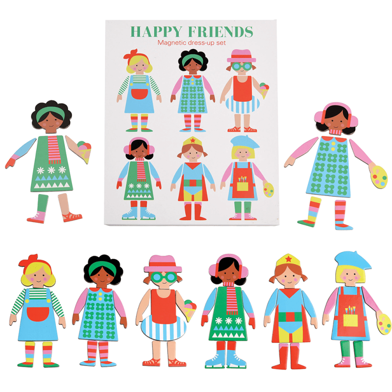 Happy Friends Magnetic Dress Set Up | Rex London