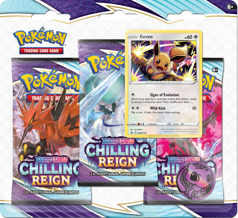 Sword and shield chillign reign 3-boosterpack