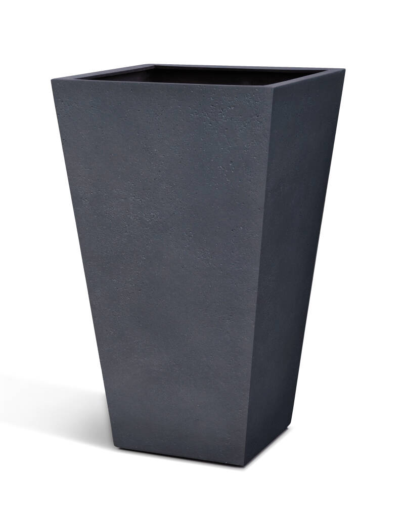 Concrete High Conical box Charcoal