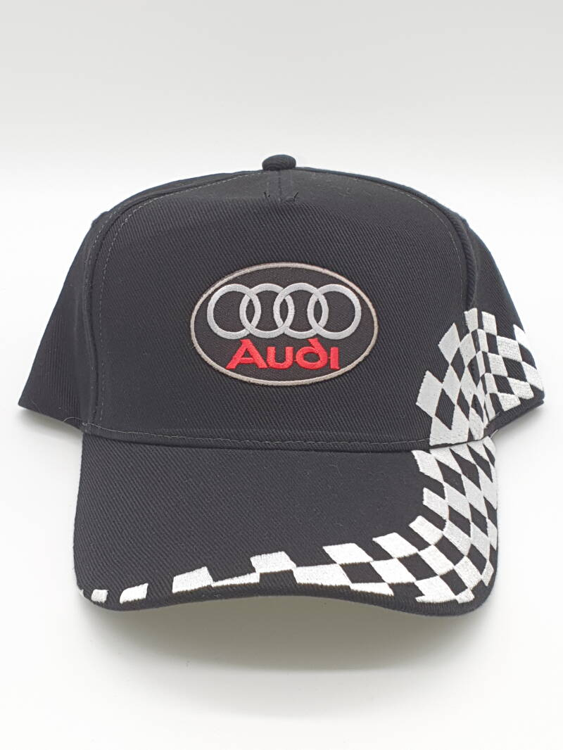 Cap Audi racing zwart/wit