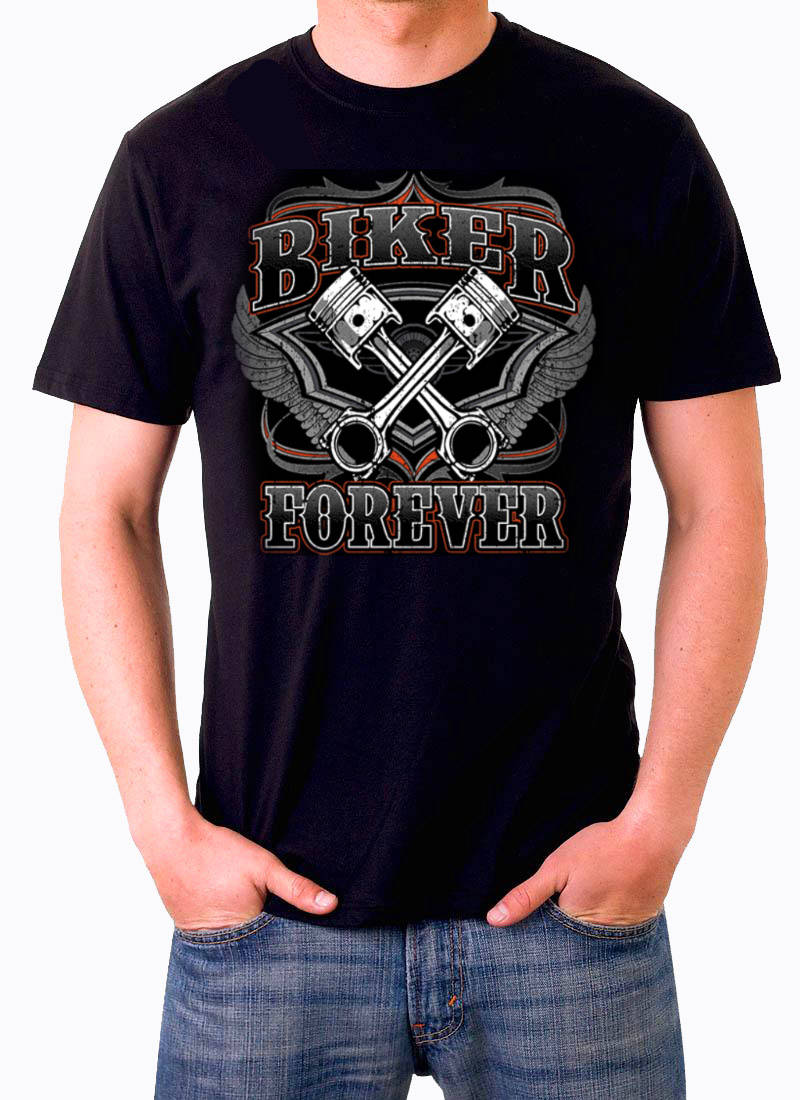 T shirt Biker for ever