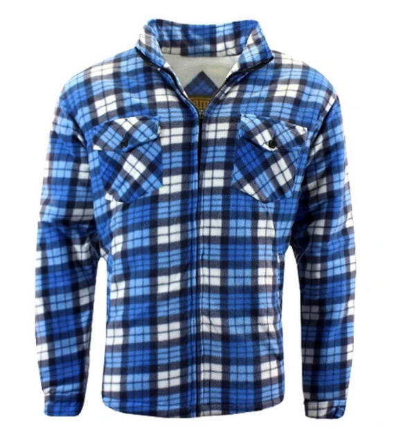 Sherpa fleece jack Blauw/Blue