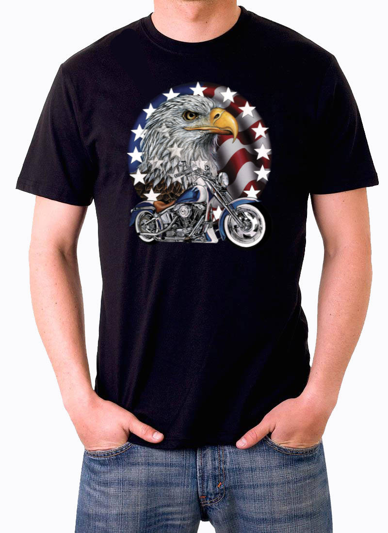 T shirt Bike eagle