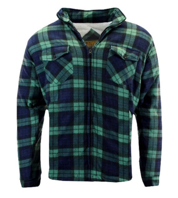 Sherpa fleece jack Groen/Green