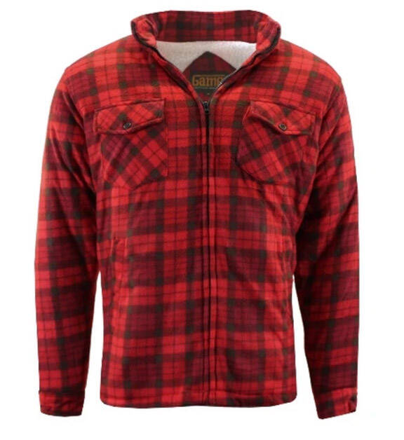 Sherpa fleece jack Rood/Red