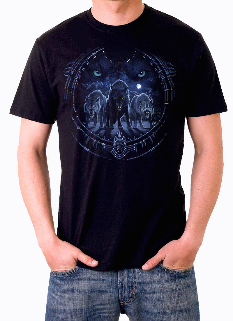 T shirt Wolf electric blue