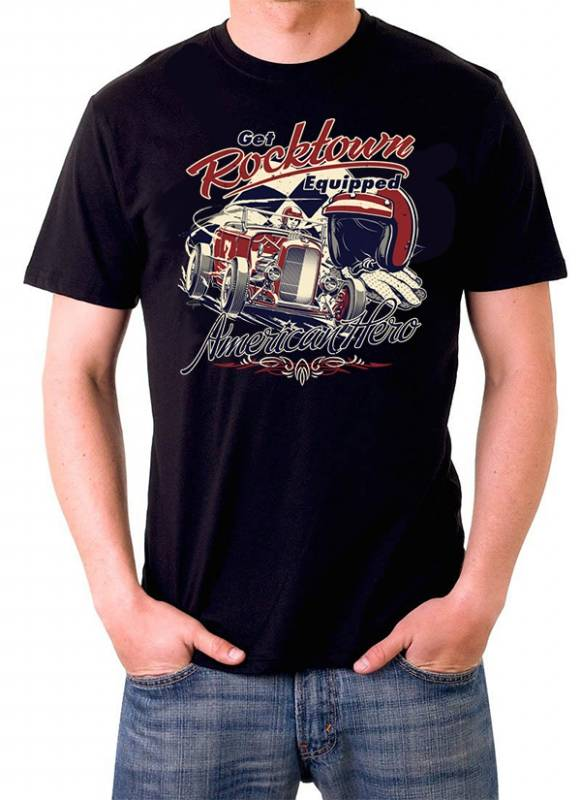T shirt American Hero hot rod