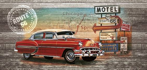 Poster Chevy route 66 style