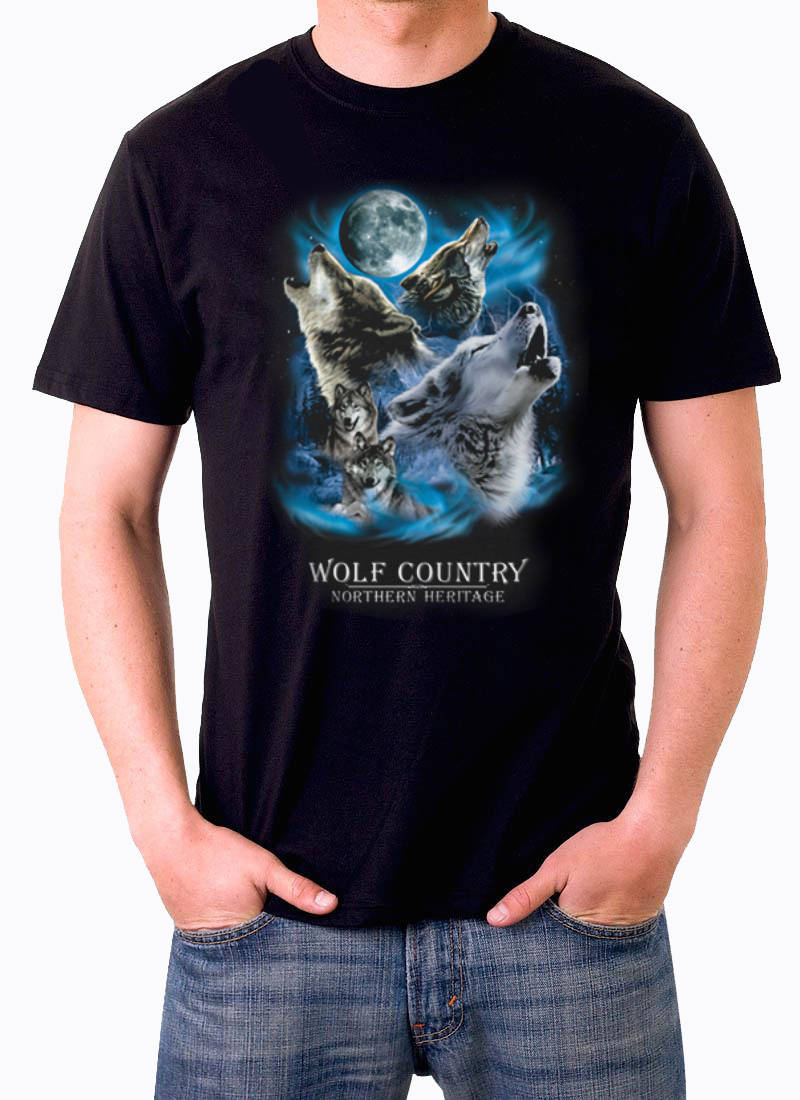 T shirt Wolf country