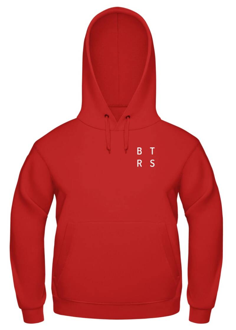 Hoodie Red-White