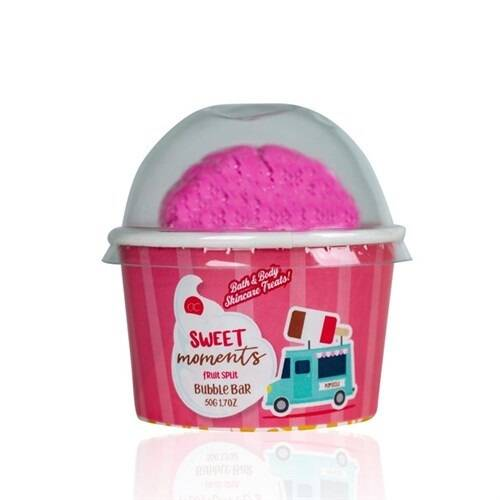 Kids - Bubble bar bruisbal 50g SWEET MOMENTS in ice cream cup