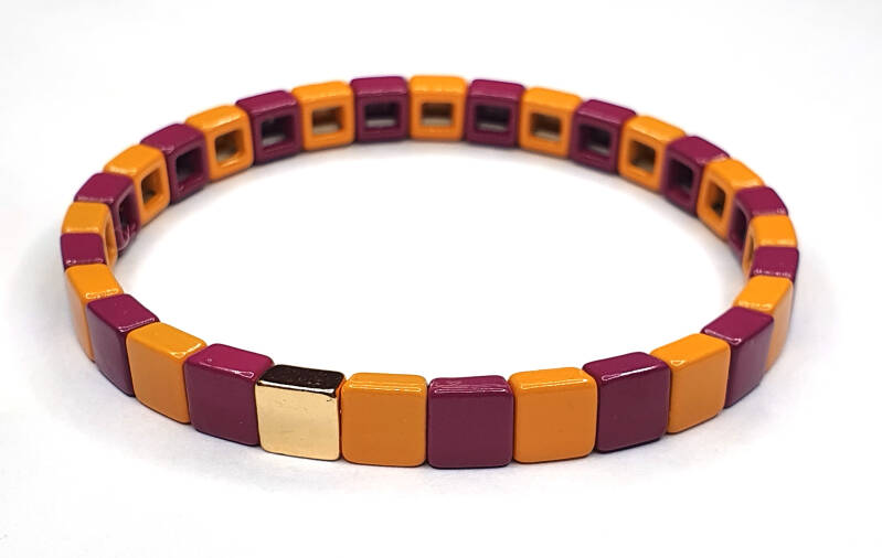 Armband Purple & Orange
