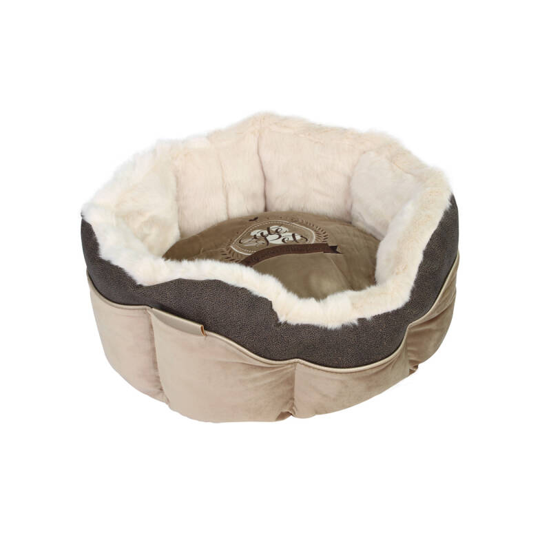 Happy-House Mand rond Cute Pets Taupe