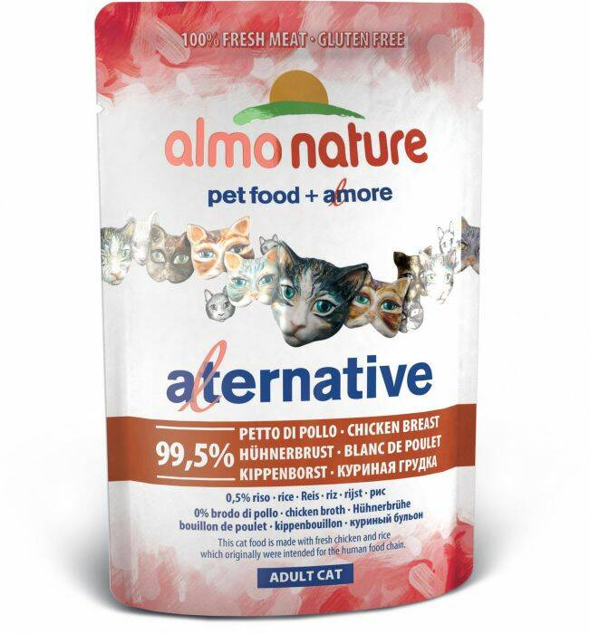 Almo alternative kippenborst 55 gram