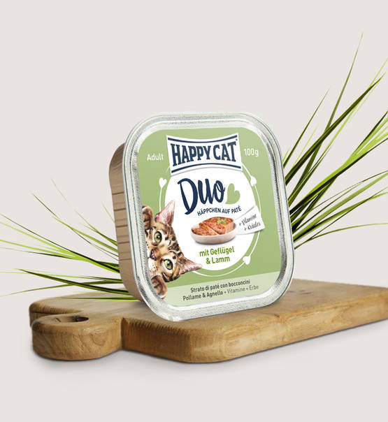 Happy cat duo gevogelte en lam (100 gram)