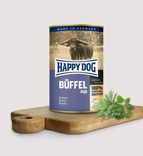 Happy dog puur buffel
