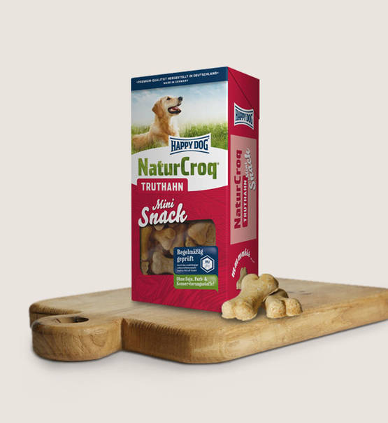 Happy dog snacks mini naturcroq kalkoen (350 gram)