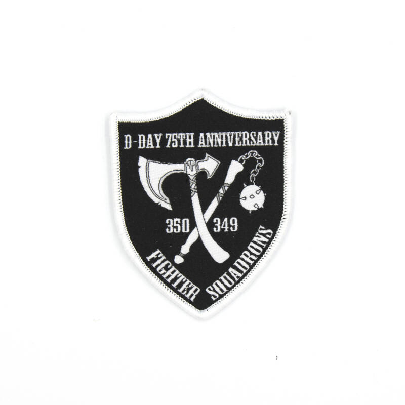 75 Yrs D-Day shield embroidery patch