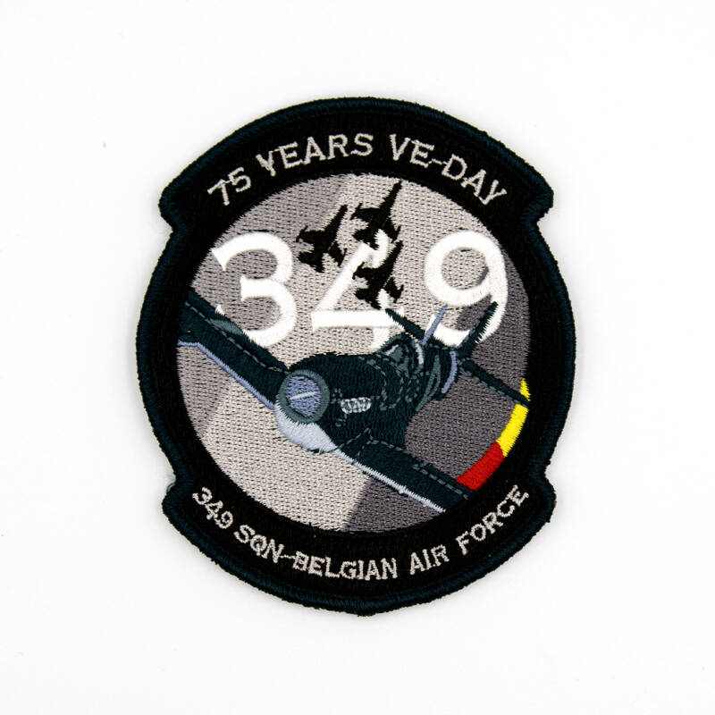 75Yrs VE-Day blue embroidery patch