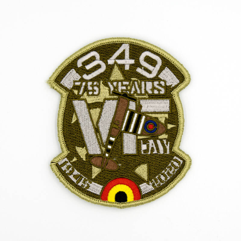 75Yrs VE-Day green embroidery patch