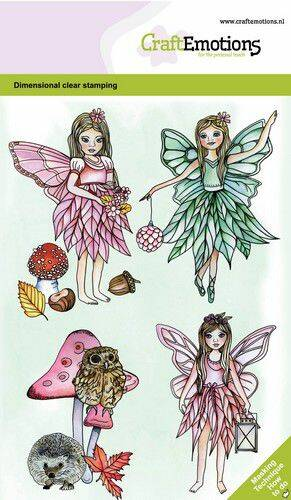 CraftEmotions clearstamps A6 - Fairies GB Dimensional stamp